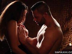 Lantern light erotic video featuring smoking hot seductress Vanessa Decker