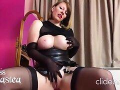 Mistress anett Larman solo wide sexy stockings - Pornstar
