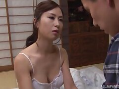 Dear Asian wed spreads her legs to have sex with a neighbor