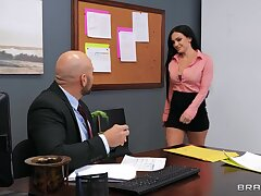 Incredible fucking in the matter of the office with horny MILF Leila Larocco