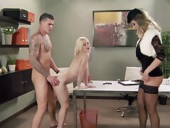 Raunchy blonde Ash Hollywood gets fucked by a total hunk