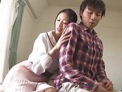 Smoking hot Japanese MILF knows how to please a friend's learn of