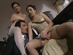 Lustful tarts ravishing Italian porn scene
