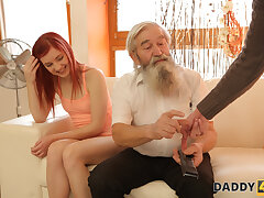 DADDY4K. Radiate catches padre fingering his girl and join